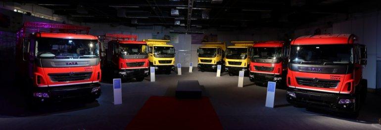 Tata Motors Prima LX range whole press shot