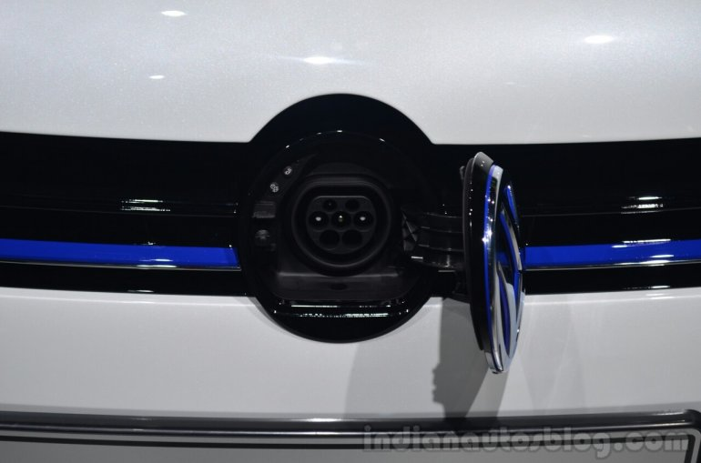 VW Golf GTE charging point - Geneva Live