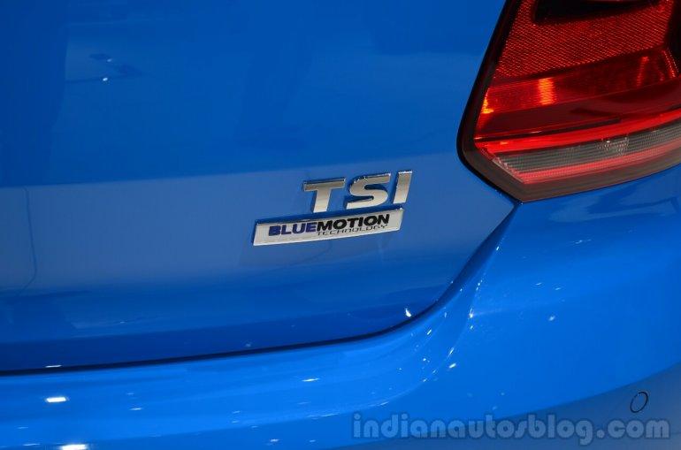 VW Polo TSI BlueMotion badge - Geneva Live