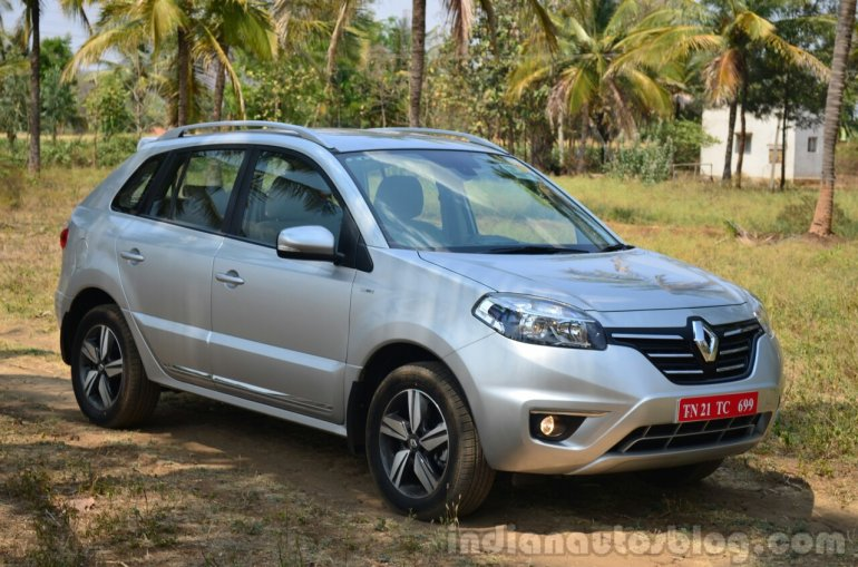 2014 Renault Koleos facelift review front quarter