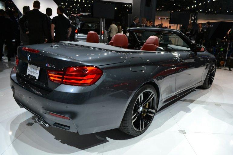BMW M4 Convertible at 2014 New York Auto Show - rear three quarter