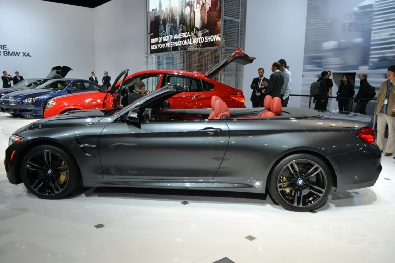 BMW M4 Convertible at 2014 New York Auto Show - side
