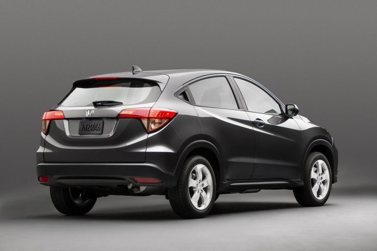 Honda HR-V rear three quarter press shot