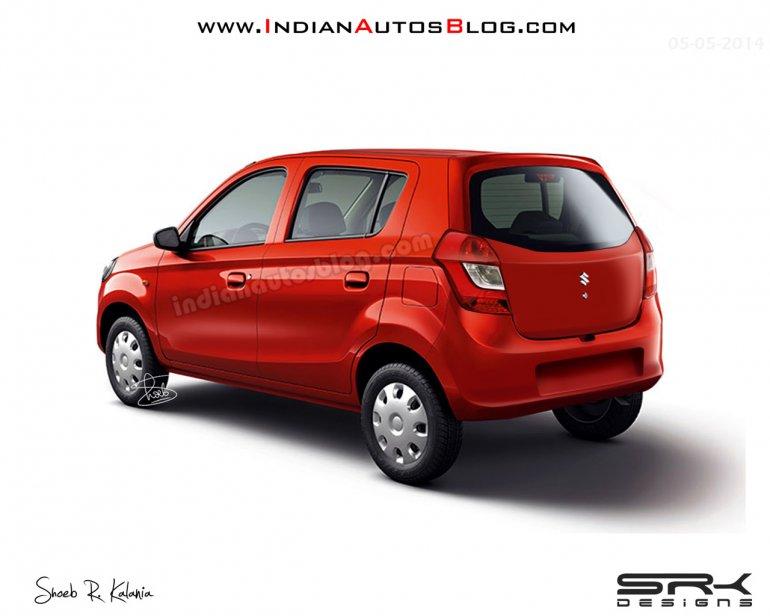 Maruti Alto 800 facelift IAB rendering rear