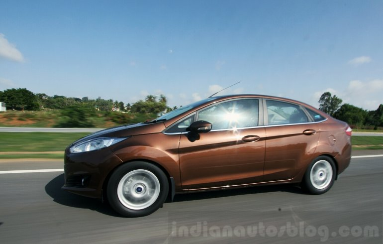 2014 Ford Fiesta Facelift Review side profile shot