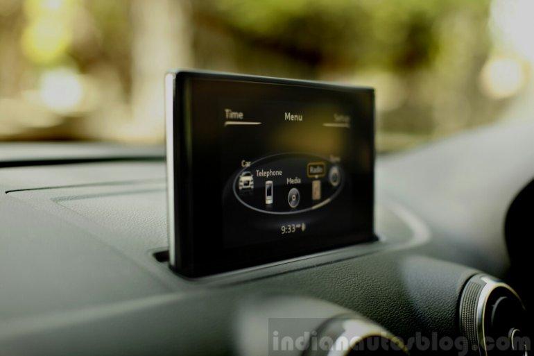 Audi A3 Sedan Review MMI screen thickness