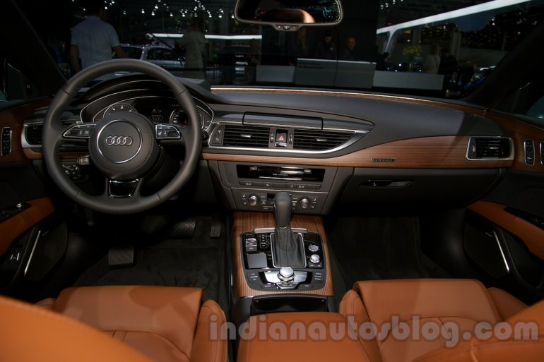2015 Audi A7 dashboard at the Moscow Motorshow 2014