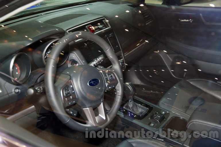 2015 Subaru Outback Prototype interior at the 2014 Moscow Motor Show