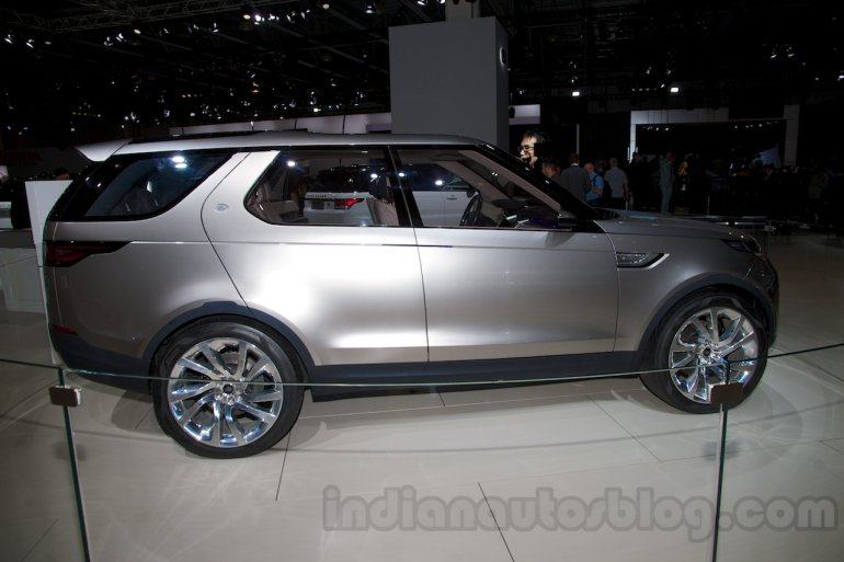 Land Rover Discovery Vision Concept side at the 2014 Moscow Motor Show