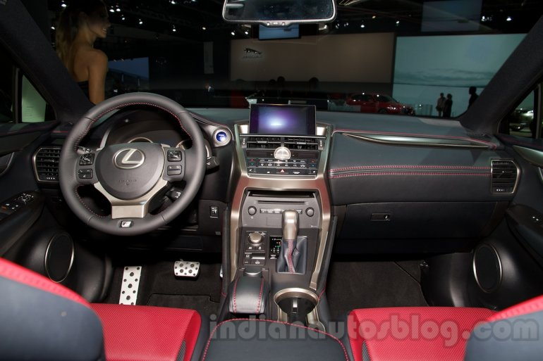 Lexus NX 300h at the 2014 Moscow Motor Show interior