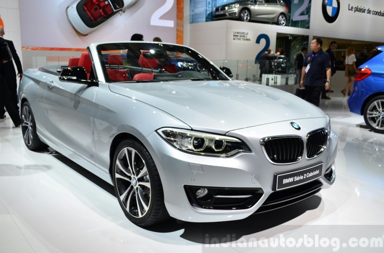 BMW 2 Series Convertible front three quarters left at the 2014 Paris Motor Show