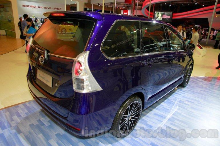 Daihatsu Xenia Indigo rear three quarters right at the 2014 Indonesia International Motor Show