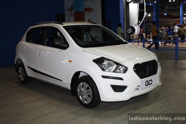 Datsun Go front right three quarter at the 2014 Nepal Auto Show