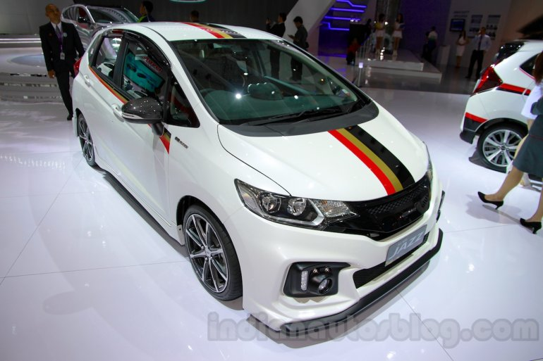 Honda Jazz Mugen front three quarters angle at the Indonesia International Motor Show 2014