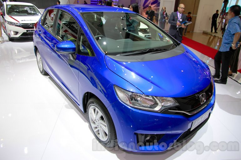 Honda Jazz front three quarters at the Indonesia International Motor Show 2014