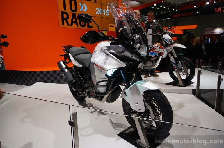 KTM 1290 Super Adventure front three quarters at INTERMOT 2014