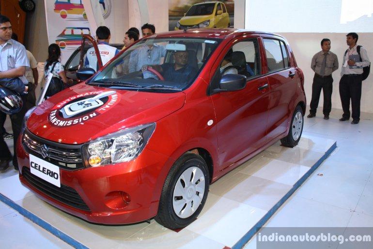 Maruti Celerio front three quarter at the 2014 Nepal Auto Show