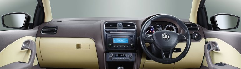 New Skoda Rapid dashboard studio shot