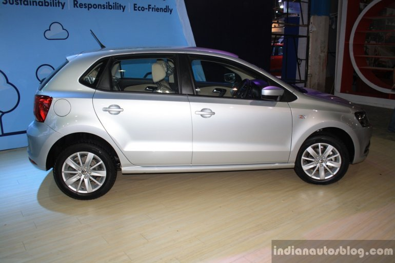 VW Polo facelift side at the NADA Auto Show Nepal