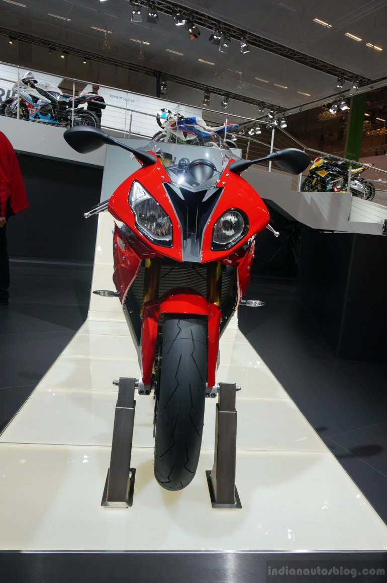 2015 BMW S 1000 RR front at the INTERMOT 2014