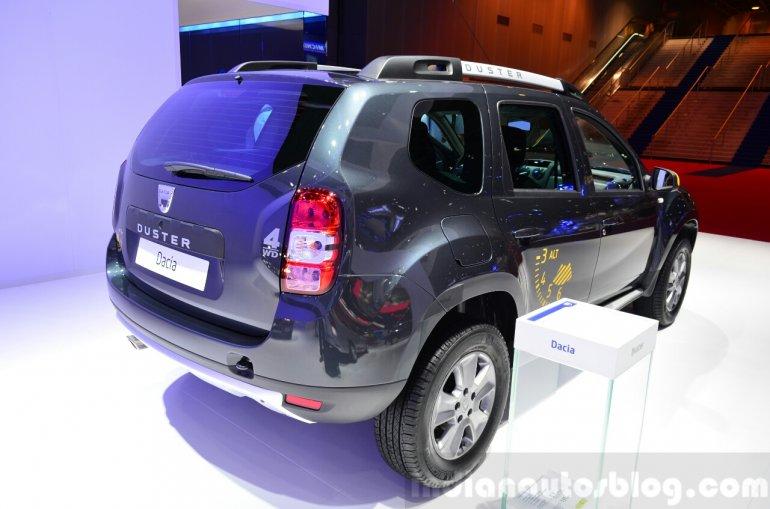 Dacia Duster Air rear three quarters at the 2014 Paris Motor Show