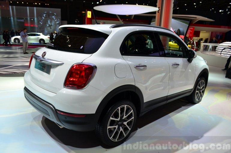 Fiat 500X rear three quarters at the 2014 Paris Motor Show