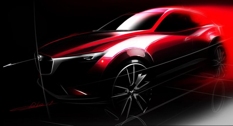 Mazda CX-3 official sketch