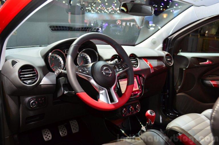 Opel Adam S interior at the 2014 Paris Motor Show