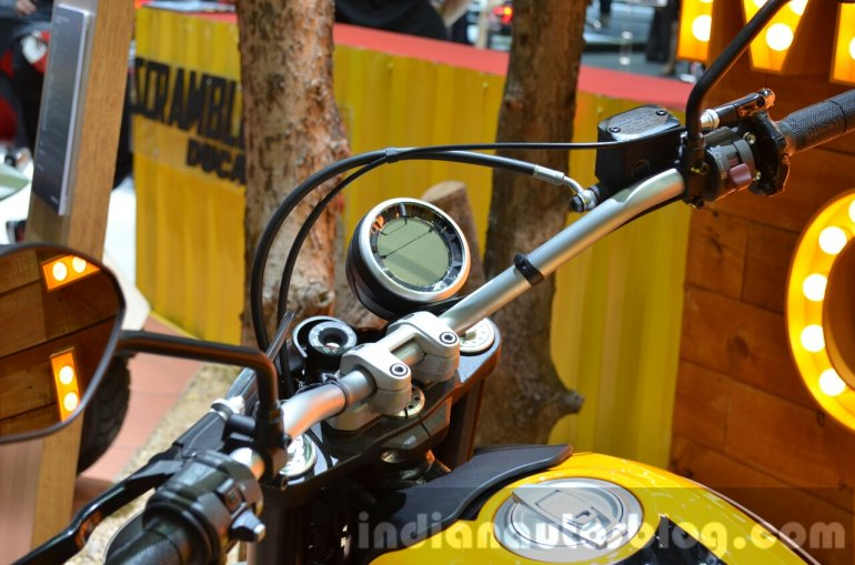 Ducati Scrambler instrument dial at the 2014 Thailand International Motor Expo
