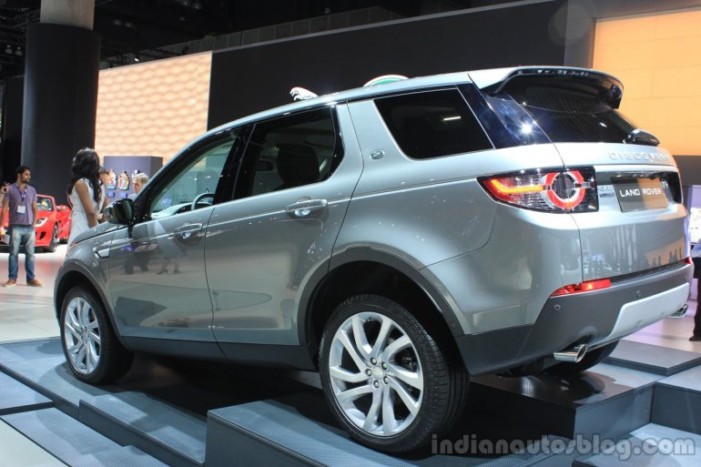 Land Rover Discovery Sport rear three quarters at the 2014 Los Angeles Auto Show