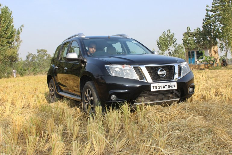Nissan Terrano on a field
