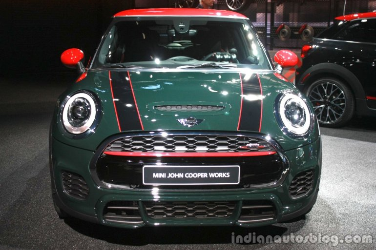 2015 Mini John Cooper Works front at the 2015 Detroit Auto Show