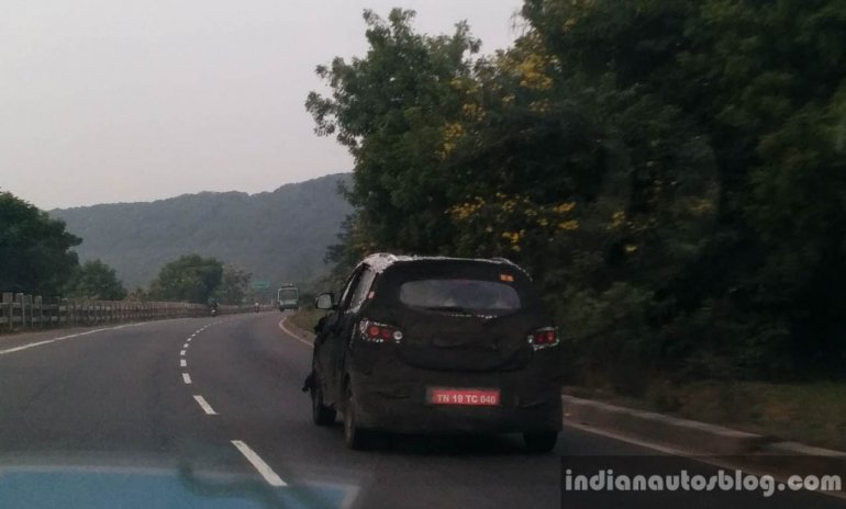 Mahindra S101 Compact Crossover spied in Chennai rear