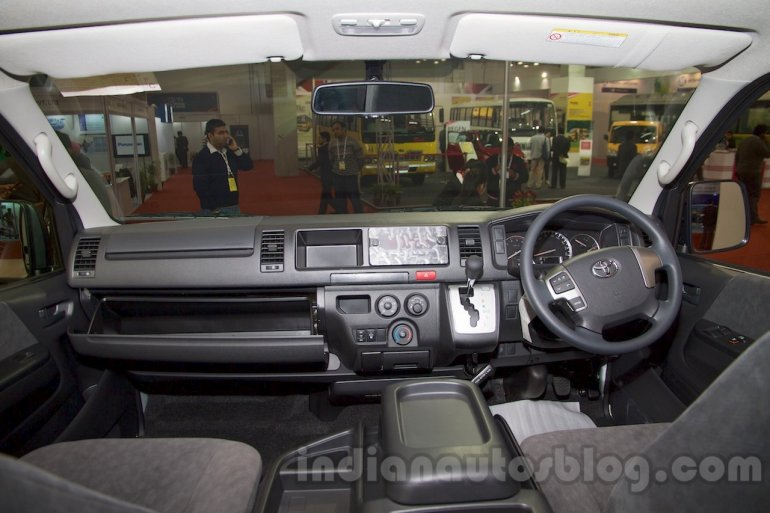 Toyota Hiace dashboard at Bus and Special Vehicle Show 2015
