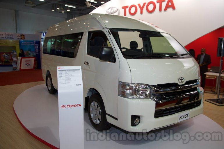 Toyota Hiace front three quarters at Bus and Special Vehicle Show 2015