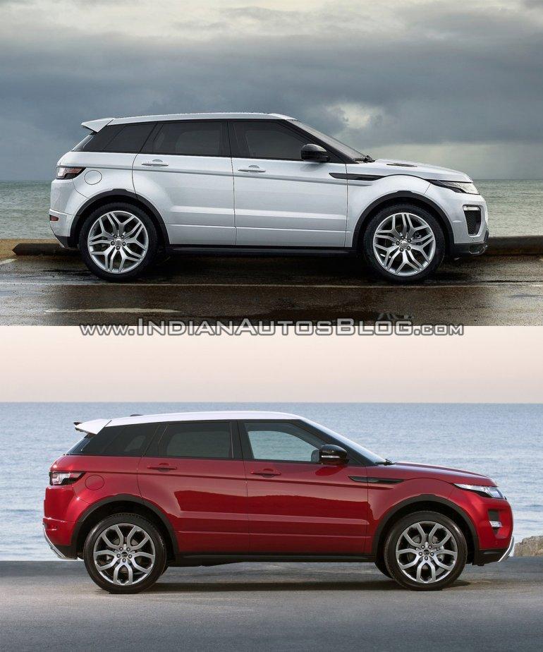 2016 Range Rover Evoque Facelift Vs 2015 Evoque