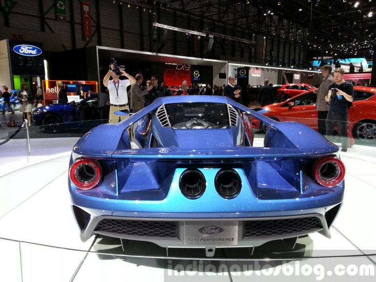 Ford GT rear at the 2015 Geneva Motor Show