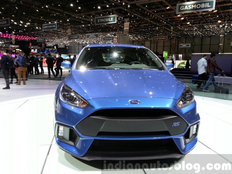 Ford Focus RS front at the 2015 Geneva Motor Show