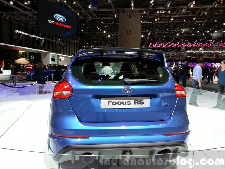 Ford Focus RS rear at the 2015 Geneva Motor Show