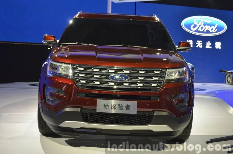 2015 Ford Explorer front at Auto Shanghai 2015