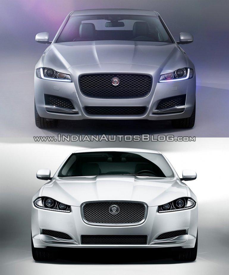 2016 Jaguar XF vs 2012 Jaguar XF front