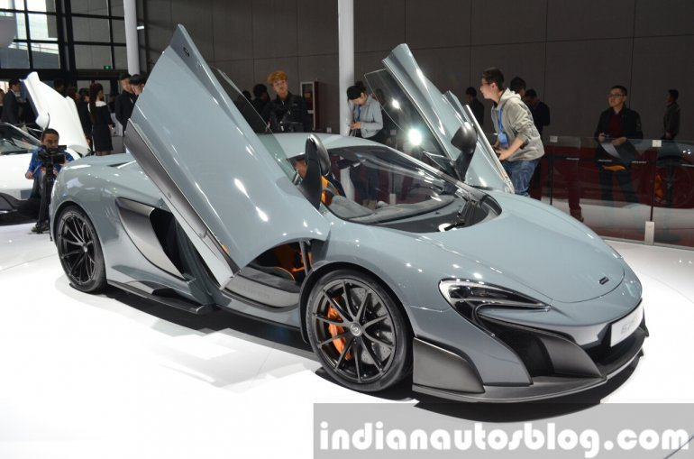 2016 McLaren 675 LT front at the Auto Shanghai 2015