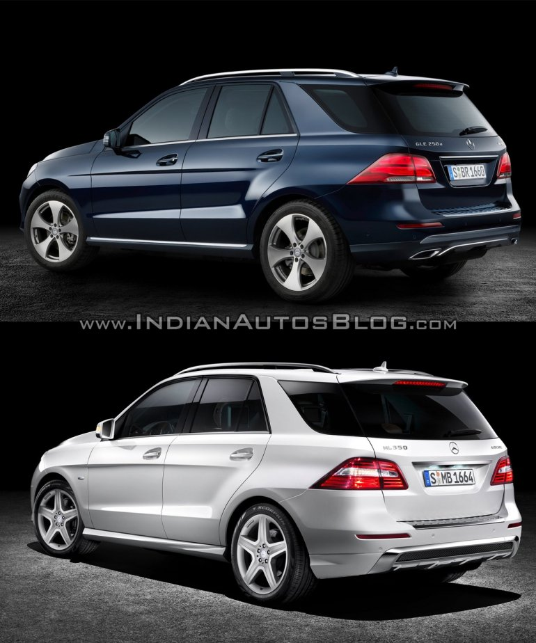 mercedes gle class vs mercedes m class old vs new. Black Bedroom Furniture Sets. Home Design Ideas