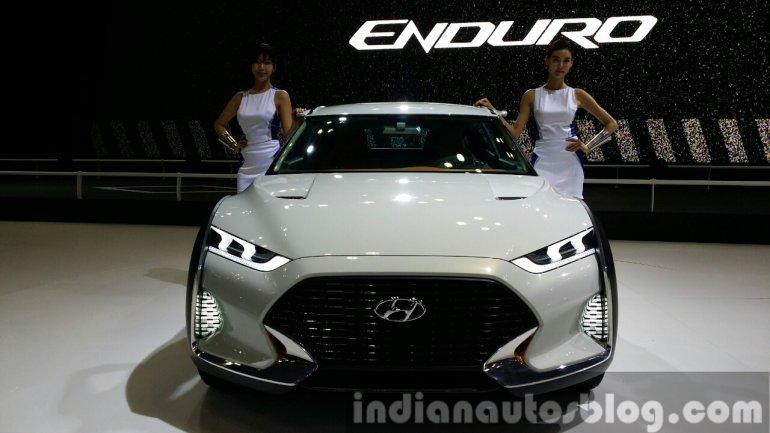 Hyundai Enduro Concept front at the Seoul Motor Show 2015