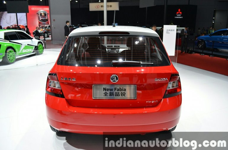Skoda Fabia rear at Auto Shanghai 2015
