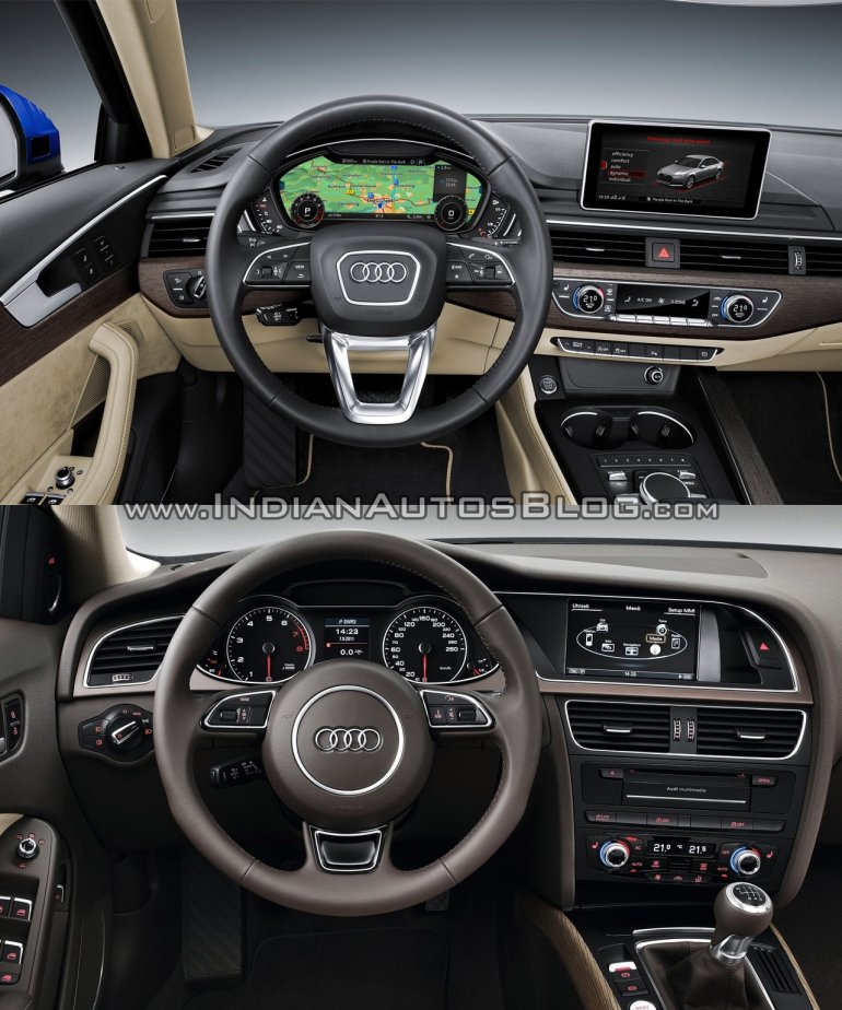 2016 Audi A4 (B9) vs 2013 Audi A4 (B8) interior old vs new