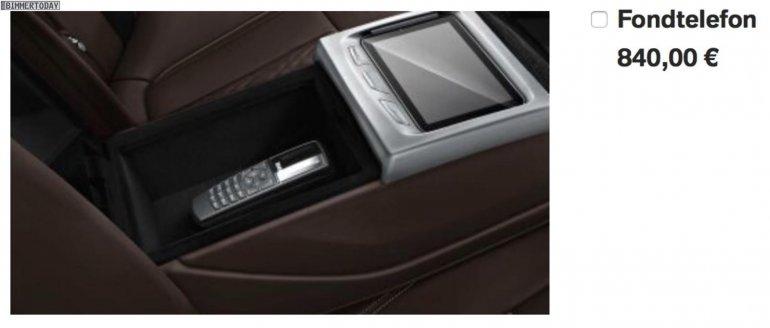 2016 BMW 7 Series telephone leaked