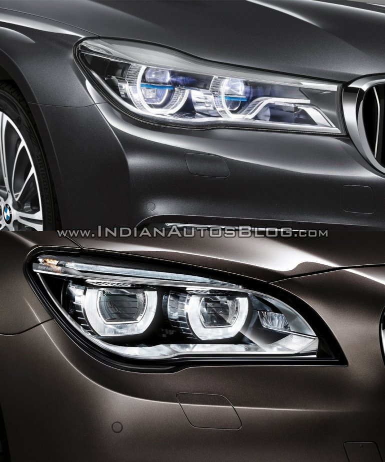2016 BMW 7 Series vs 2014 BMW 7 Series headlamps Old vs New