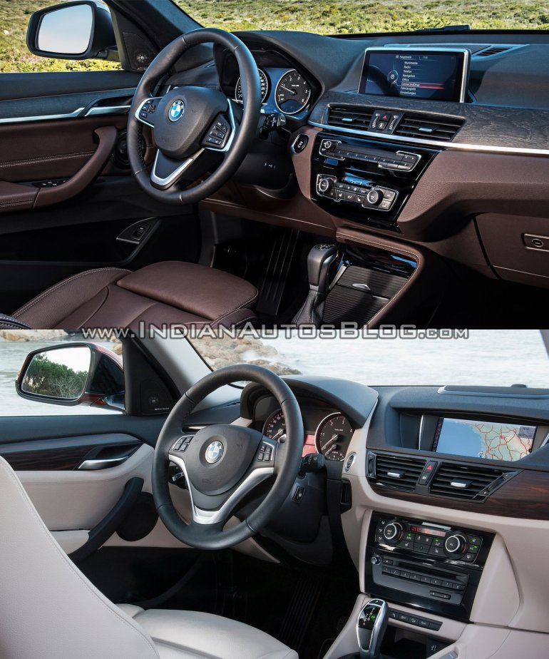 2016 BMW X1 vs 2014 BMW X1 interior Old vs New