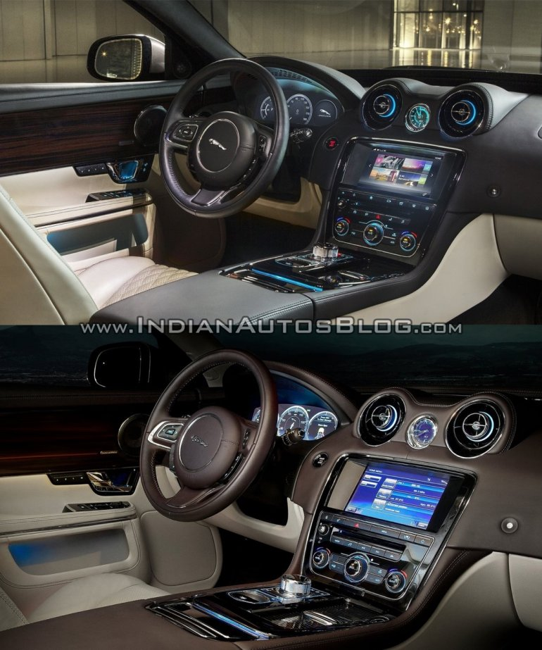 2016 Jaguar XJ vs 2014 Jaguar XJ interior Old vs New